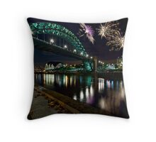 Tyne Bridge Fireworks, Newcastle upon Tyne, UK Throw Pillow