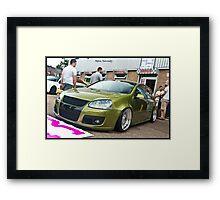 MK5 Golf On BBS RS Rims Framed Print