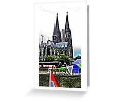 At the Cologne Cathedral  Greeting Card