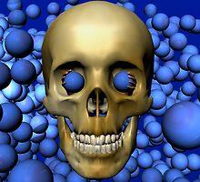 Blue Eyed Skull by Ann Morgan