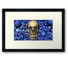 Blue Eyed Skull Framed Print