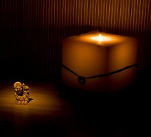 Japanese Netsuke Still Life with  candle by Margarita K