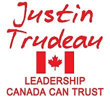 JUSTIN TRUDEAU LEADERSHIP CANADA CAN TRUST Photographic Print