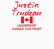 JUSTIN TRUDEAU LEADERSHIP CANADA CAN TRUST Women's Fitted Scoop T-Shirt