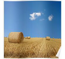 Straw Bales Poster