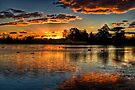 Sunset over Lake Wendouree by Jason Ruth