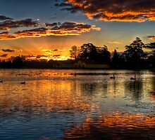 Sunset over Lake Wendouree by Jason Ruth