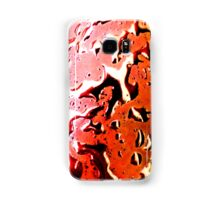 Red, Orange, Pink Wet Metal Splash Samsung Galaxy Case/Skin