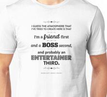 Dunder Mifflin The Office - Michael Scott - Friend, Boss, Entertainer Unisex T-Shirt