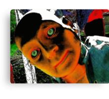 Hugo, Man of a Thousand Faces Hits the Acid Canvas Print