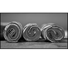 Paper Roll - Bored In The Office Photographic Print