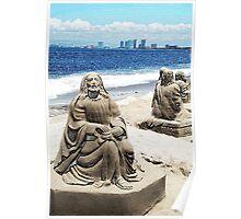 Sand Sculpture (pencil) Poster