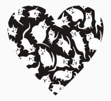 Crazy Cat Heart  Kids Clothes