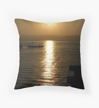 Sail on The Sea of Galilee Throw Pillow
