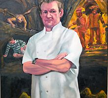 Portrait of Chef Gordon Ramsay by Douglas Manry