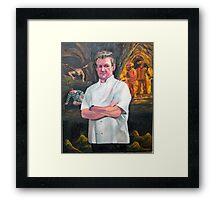 Portrait of Chef Gordon Ramsay Framed Print