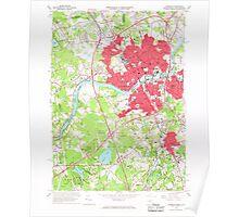 Massachusetts  USGS Historical Topo Map MA Lawrence 350233 1966 24000 Poster