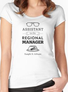 The Office Dunder Mifflin - Assistant to the Regional Manager Women's Fitted Scoop T-Shirt