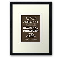 The Office Dunder Mifflin - Assistant to the Regional Manager Framed Print