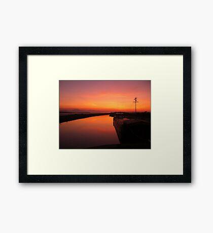 Sunset - Mudflats near Blennerville, County Kerry, Eire Framed Print