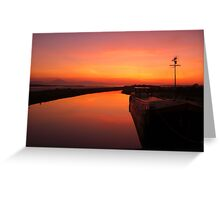 Sunset - Mudflats near Blennerville, County Kerry, Eire Greeting Card
