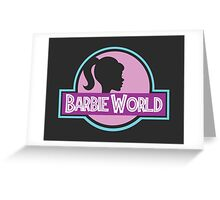 Barbie World Greeting Card