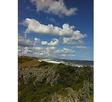 Viewpoint of high-up on a handrail @ Logan's beach II Photographic Print