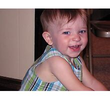What A Darling Boy! Photographic Print