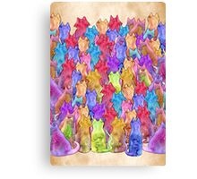 A Paw-sitively, Purr-fect, Claw-some Caturday  Canvas Print