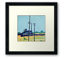Patea Freezing Works: On the grid Framed Print