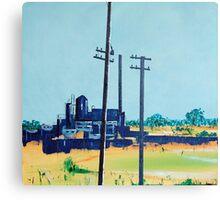 Patea Freezing Works: On the grid Canvas Print