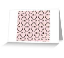 branches  purple fuchsia pattern Greeting Card