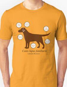 Anatomy of a Labrador Retriever T-Shirt