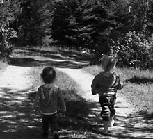 Kids going for a walk by TaraHG