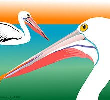 Pelicans by rodesigns