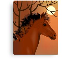 Horse and nature	 Canvas Print