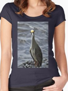 Night Heron, As Is Women's Fitted Scoop T-Shirt