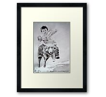 Jack & his flying Dog Framed Print