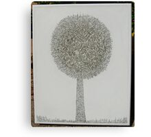 MicroDoodle Topiary Canvas Print