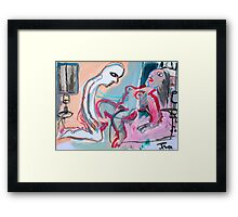 scene from a cheap motel #1 Framed Print