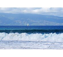 raging ocean Photographic Print