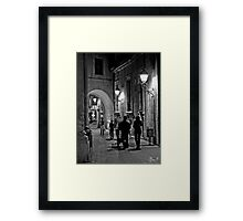 Walking in the night  Framed Print