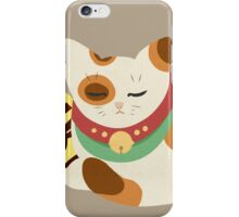 (sleepy) lucky cat iPhone Case/Skin