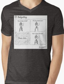 Babysitting Mens V-Neck T-Shirt