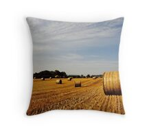 Hay Bales in Donegal Throw Pillow
