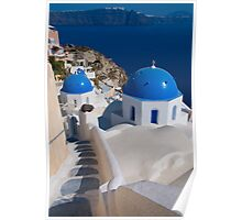 The Churches Of Oia Poster