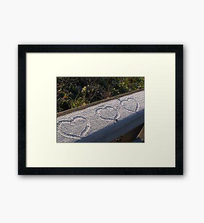 Three Hearts Framed Print