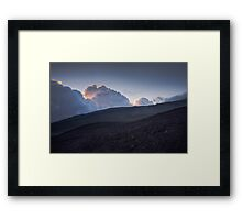 Blue sunset - Hills of volcano Etna Framed Print