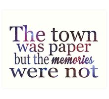 Galaxy - Towns Art Print