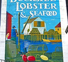 Dockside Lobster and Seafood sign by Mark Sellers